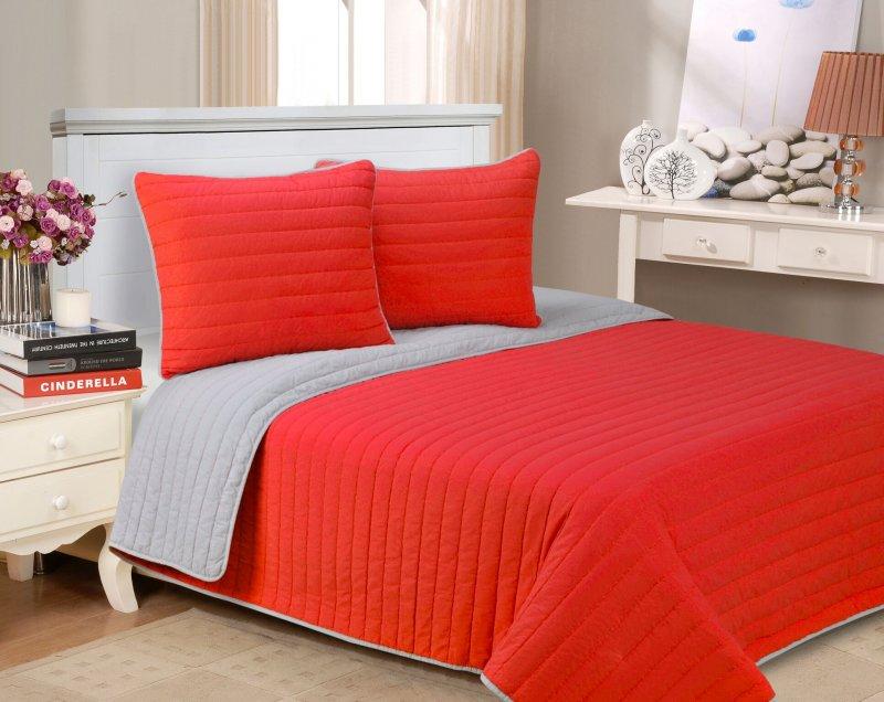 Image 8 of 3-pc Full/Queen Superior Brandon Contemporary Striped Quilt & Pillow Sham Set