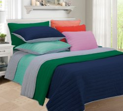 3-pc Full/Queen Superior Brandon Contemporary Striped Quilt & Pillow Sham Set