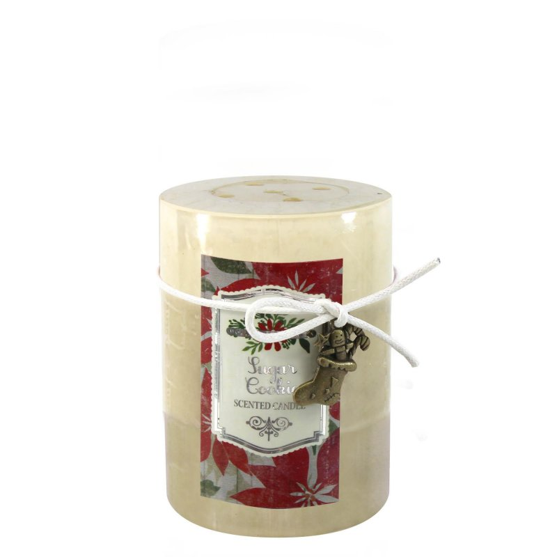 Image 0 of 3 x 4 Pillar Candle Sugar Cookie Scented 60 Hours Burn Time