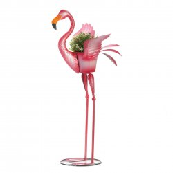 Garden Stake Pink Flamingo Ready to Fly Planter Stakes Included 36 High