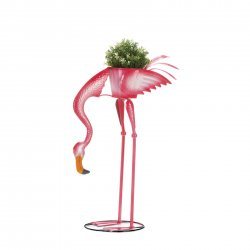 Garden Stake Pink Flamingo Ready to Eat Planter Stakes Included 27 High