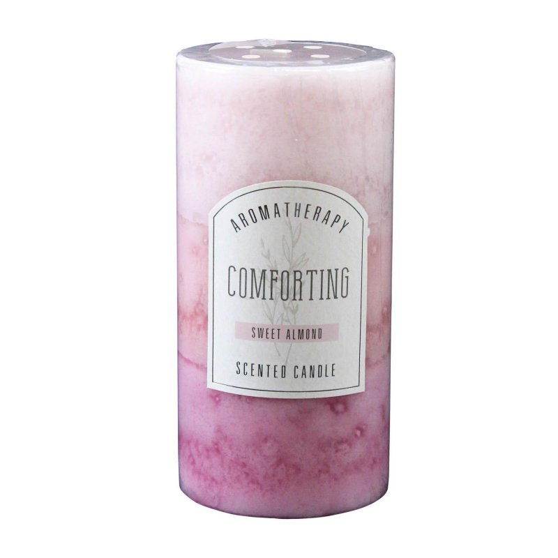 Image 0 of 3 x 6 Pillar Candle Sweet Almond Scented Comforting Aroma Therapy 90 Hrs. Burn