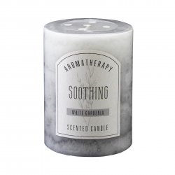 3 x 6 Pillar Candle White Gardenia Scented Soothing Aroma Therapy 90 Hr Burn