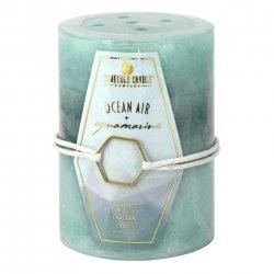 3 x 4 Pillar Candle Ocean Air & Aquamarine Scent 60 Hours Burn Time