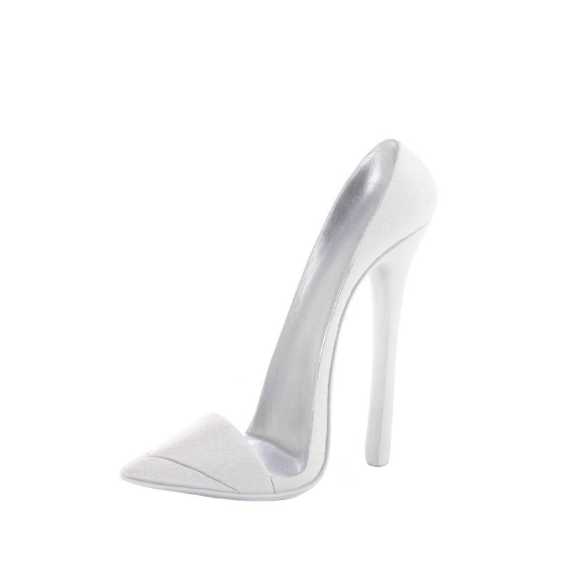 Image 0 of Dazzling White High Heel Cell Phone Holder Design Combines Fashion & Function