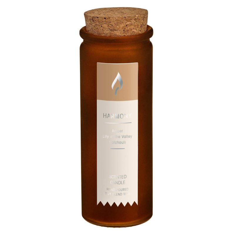 Image 0 of Amber Patchouli Harmony Scent Tincture Bottle Candle w/ Cork Lid