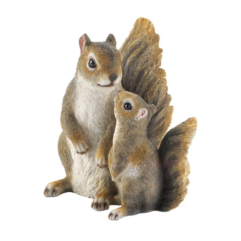 Image 0 of Mommy & Me Squirrel Garden Figurine Finely Detailed