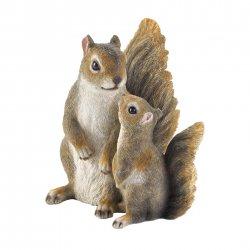 Mommy & Me Squirrel Garden Figurine Finely Detailed