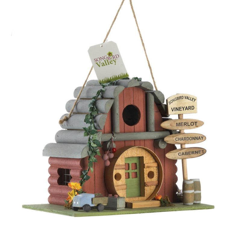 Image 2 of Vintage Style Winery Birdhouse w/ Vineyard Sign 1 1/4