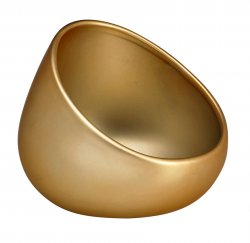 Ceramic Portable Boom Bowl for Cell Phones Amplifies Sound Matte Gold