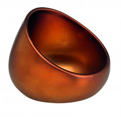 Ceramic Portable Boom Bowl for Cell Phones Amplifies Sound Matte Bronze