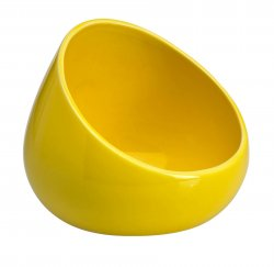 Ceramic Portable Boom Bowl for Cell Phones Amplifies Sound Yellow