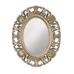 Baroque Style Scallops & Shells Golden Frame Oval Wall Mirror