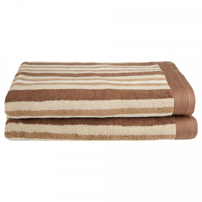 2 Piece Chocolate Bath Sheets