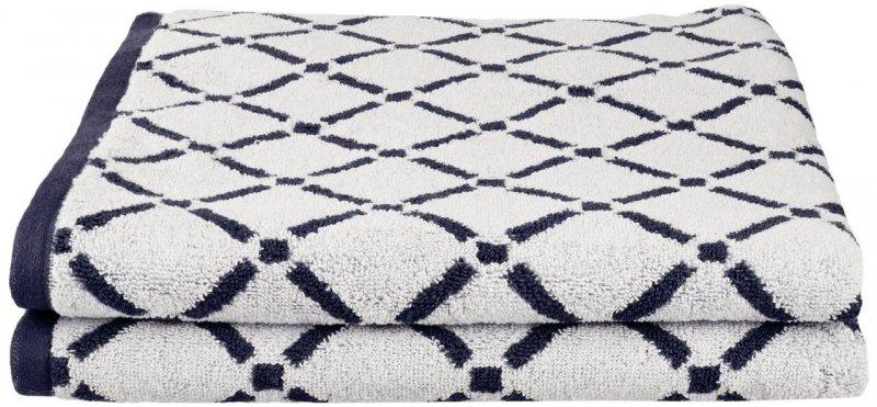 2 Piece Charcoal & White Diamond Bath Towels