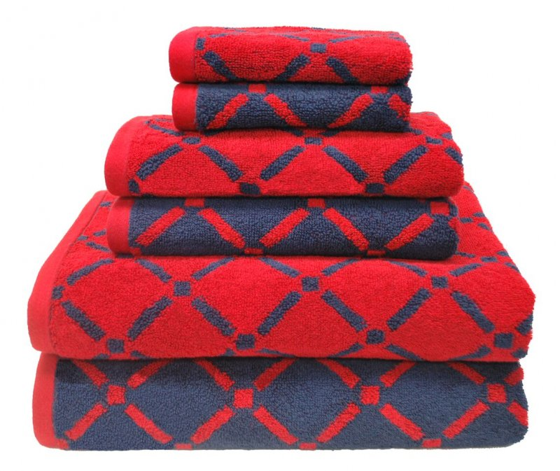 6 Piece Reversible Diamond Towel Set