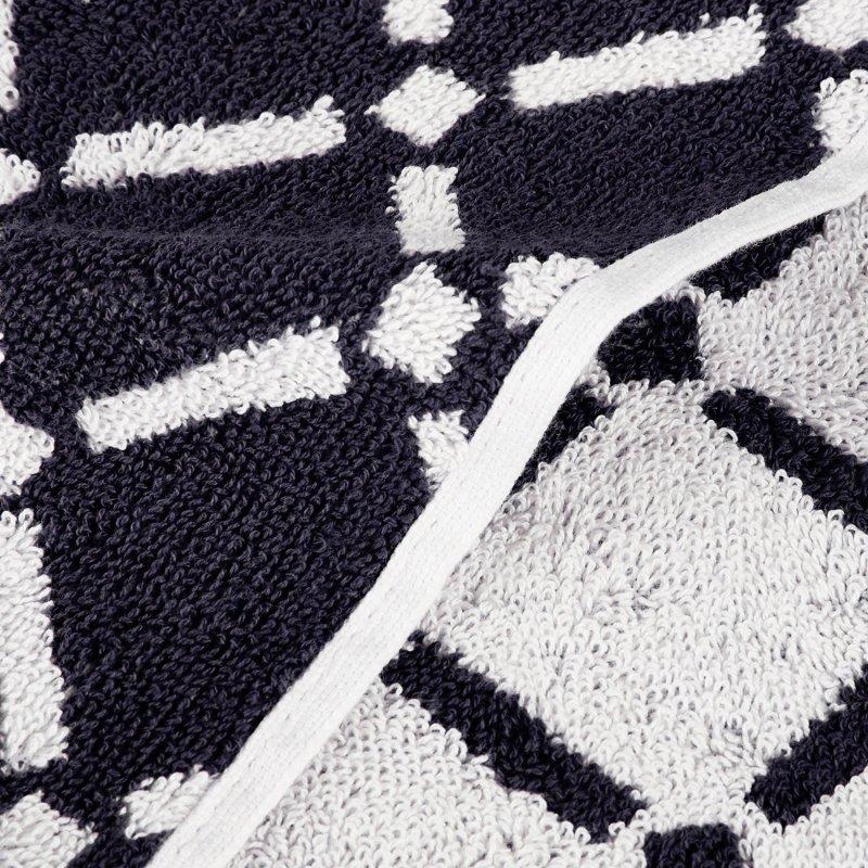 Image 7 of Reversible Diamond Pattern 2 Bath + 2 Hand + 2 Face Towel Set