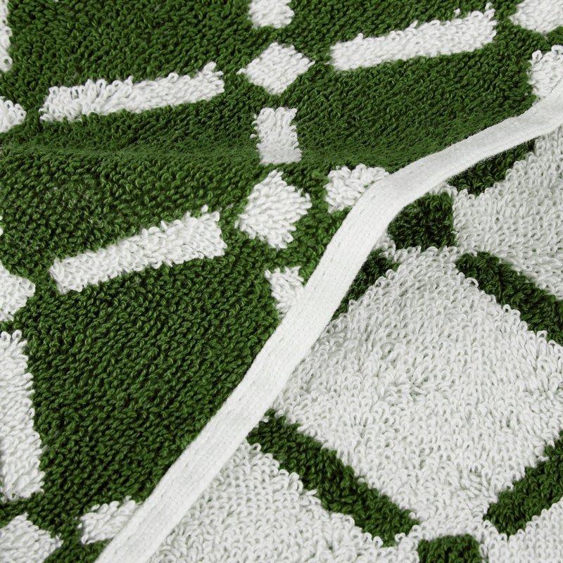 Hunter Green & White Reversible 6-Piece Towel Set