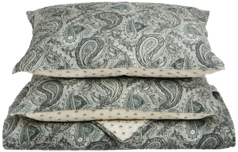 Image 0 of 3 Piece Full/Queen Moroccan Paisley Print Reversible Quit & Pillow Sham Set