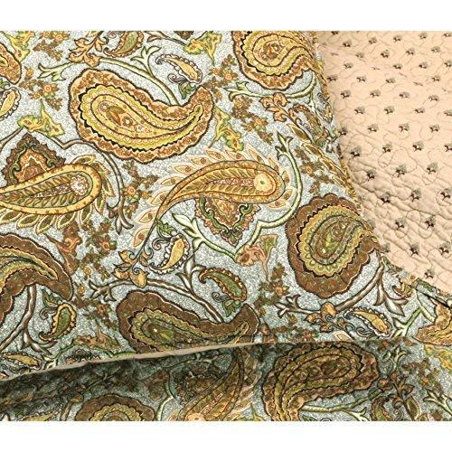 3 Piece Moroccan Paisley Reversible Quilt