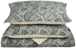 3 Piece Full/Queen Moroccan Paisley Print Reversible Quit & Pillow Sham Set