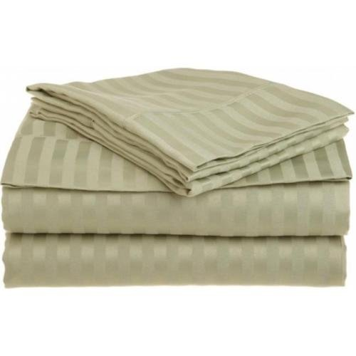 Full Sage 1500 Striped Sheet Set