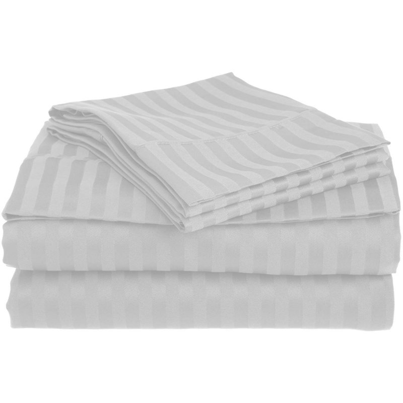 Queen Chrome 1500 Striped Sheet Set
