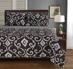 Full/Queen Superior Brown Cambridge Victorian Design Quit & Pillow Shams
