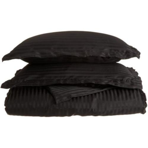 Twin/Twin XL Black 1500 Microfiber Duvet Set