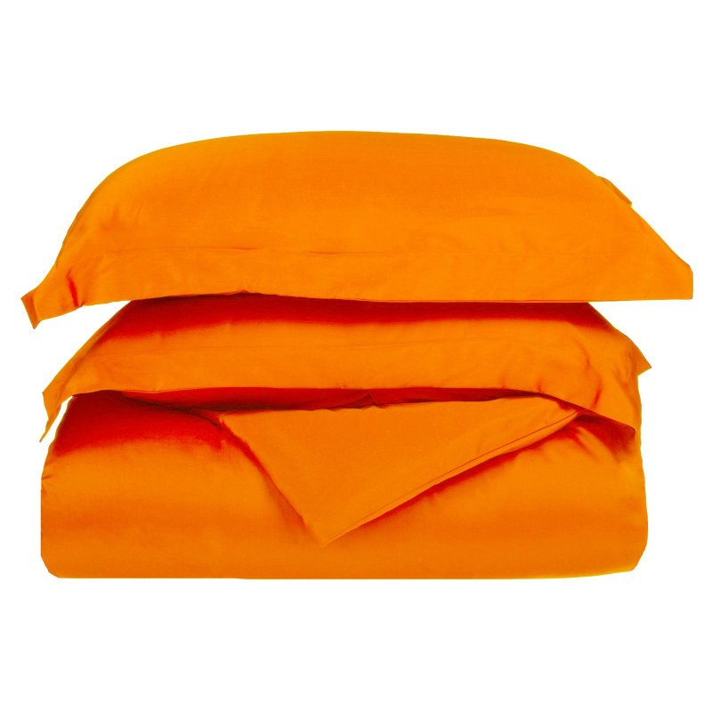 Twin/Twin XL Orange 1500 Microfiber Duvet Set
