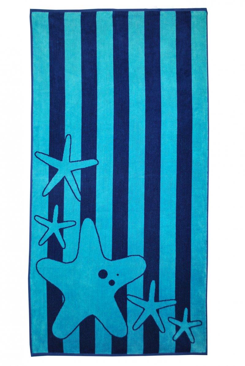Blue Starfish Beach Towel 34