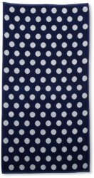 Navy & White Polka Dots Over-Sized Beach Towel 450 GSM Jacquard 100% Cotton