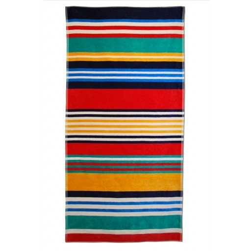 Multi-Color Striped Beach Towel 34