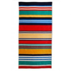 Multi-Color Striped Over-Sized Beach Towel Jacquard 100% Cotton