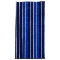 Cabana Style Blue Striped Theme Over-Sized Beach Towel Jacquard 100% Cotton