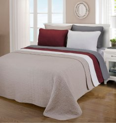 3-pc Full/Queen Superior McKinley Cobblestone Stitched Quit & Pillow Sham Set