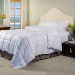 Superior White Stripe Down Alternative Comforter/Duvet Insert All Season
