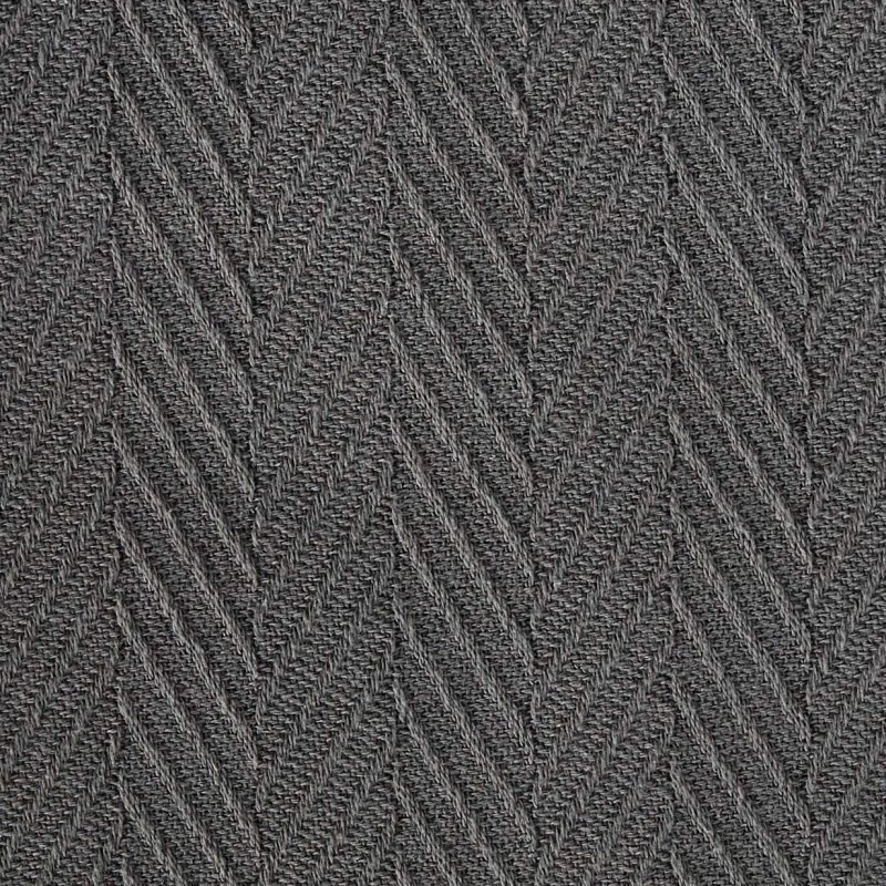 Image 3 of Superior Metro Herringbone Weave Pattern Blanket 100% Cotton Charcoal