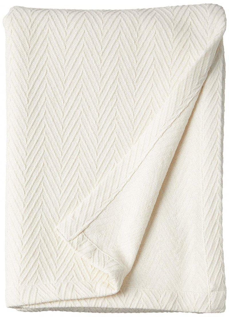 Superior Metro Herringbone Pattern Cotton Blanket