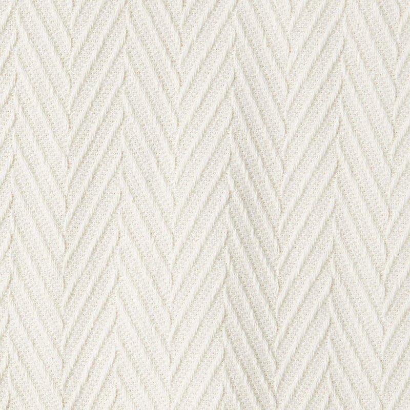 Image 3 of Superior Metro Herringbone Weave Pattern Blanket 100% Cotton Ivory
