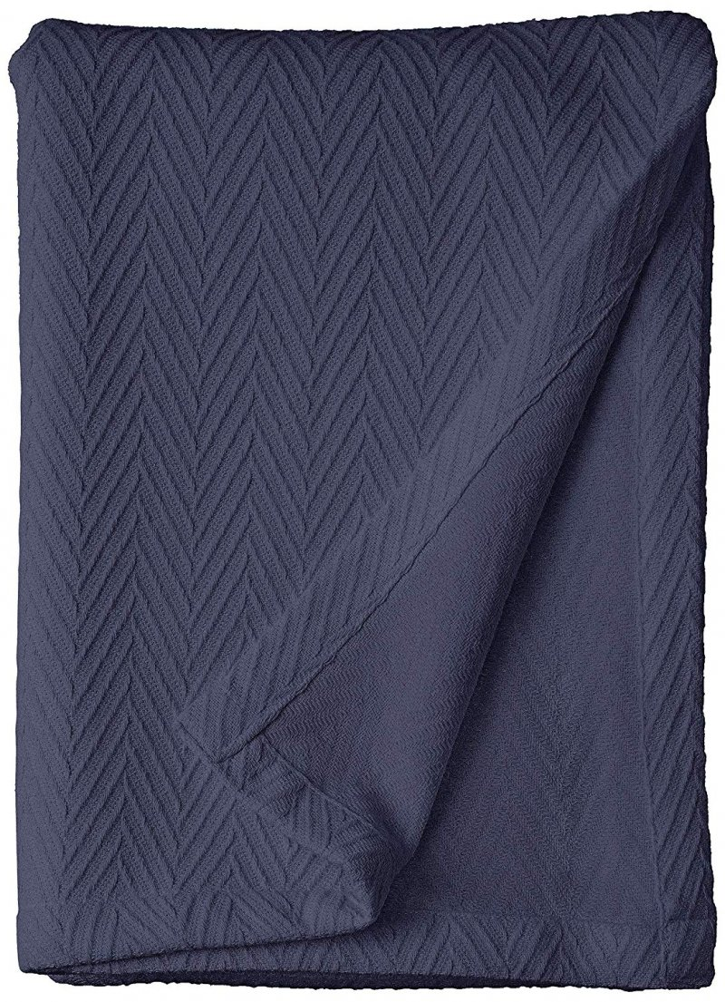 Superior Metro Herringbone Pattern Cotton Blanket