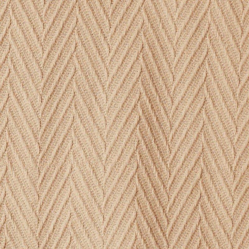 Image 3 of Superior Metro Herringbone Weave Pattern Blanket 100% Cotton Taupe