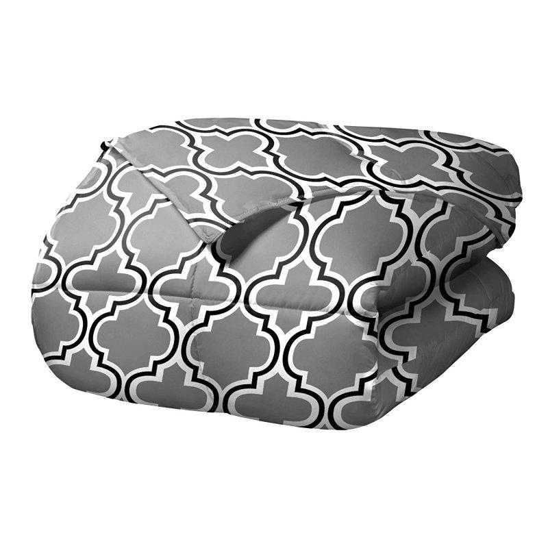 Superior Gray Trellis Design Comforter Set