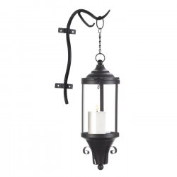 Black Wall Sconce Open Hanging Lamp Industrial Style Use Indoors/Outdoors