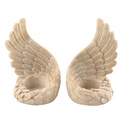 Angel Wings Candle Holder Set Use Tealights or Flameless Candles