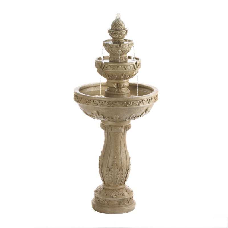 Ivory color fountain weighs 24 lbs. 