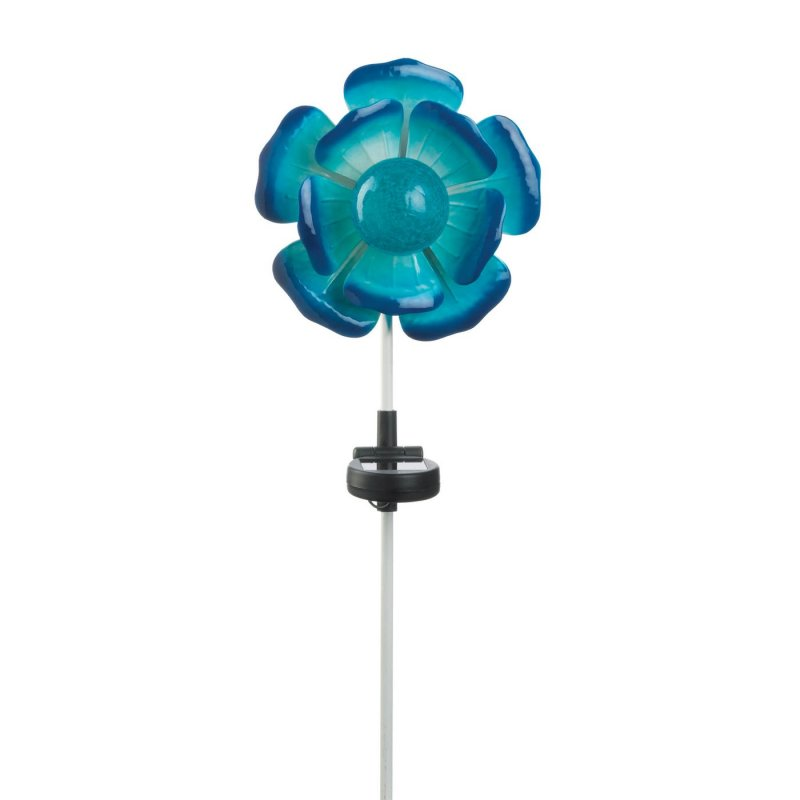 Solar powered flower stake weighs 0.8 lbs. 