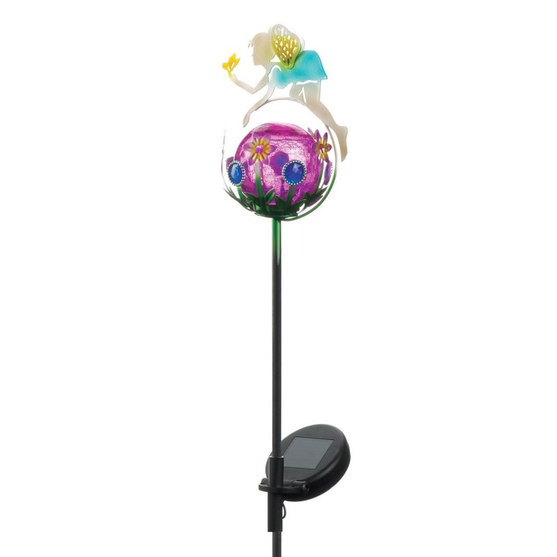 Solar powered fairy stake weighs 0.8 lbs. 