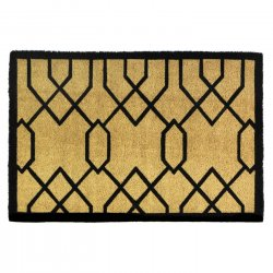 Gatsby Art Deco Coir Doormat Slip-Resistant Backing 24 x 36 Long