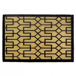Buchanan Art Deco Coir Doormat Slip-Resistant Backing 24 x 36 Long
